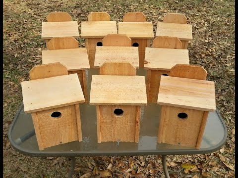 Hand Made Bluebird House - Nesting Box - Cedar