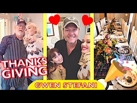 Gwen Stefani & Blake Shelton celebrating Thanksgiving with family 💕🎄