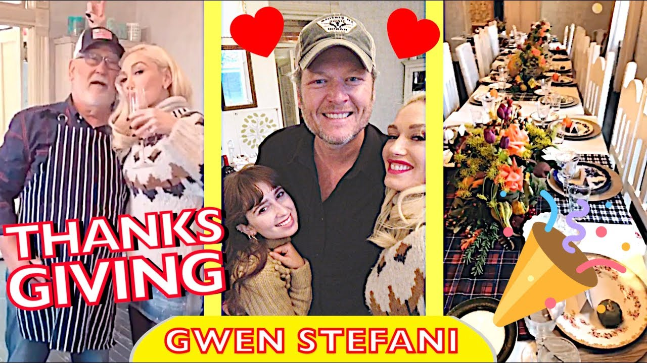 Gwen Stefani and Blake Shelton celebrate Thanksgiving early