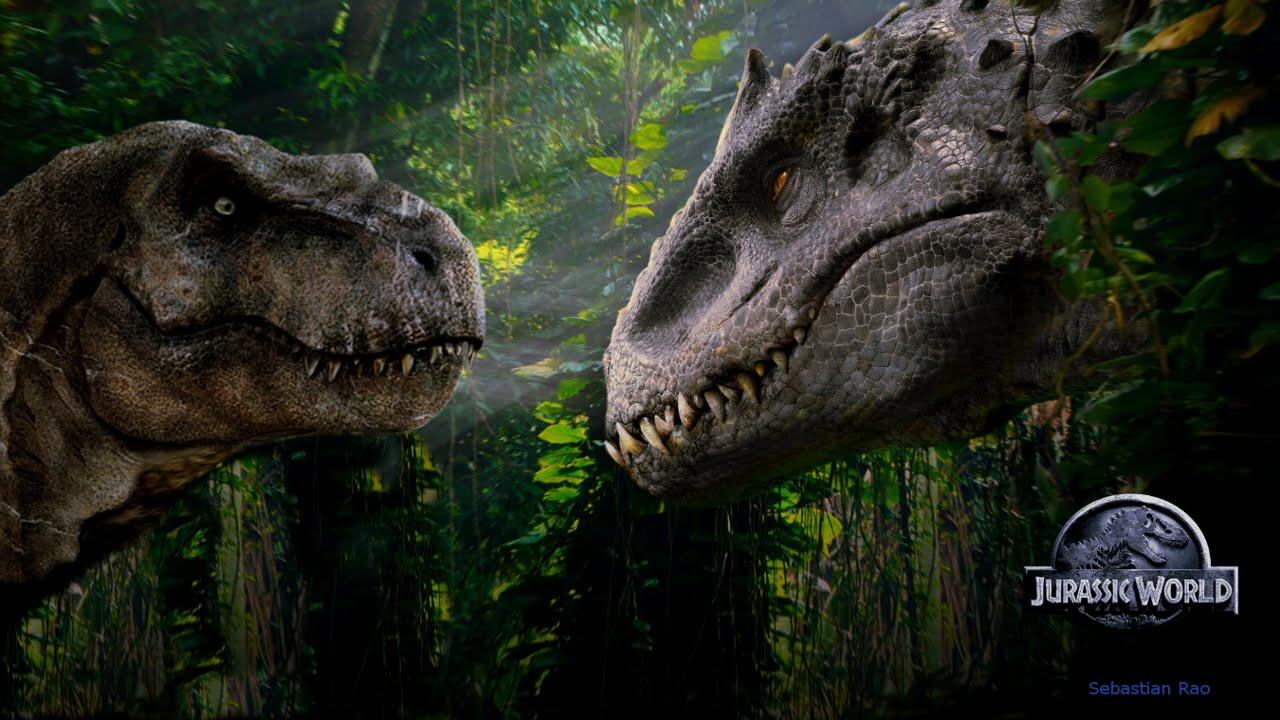 Indominus Rex W T Rex Roars V2