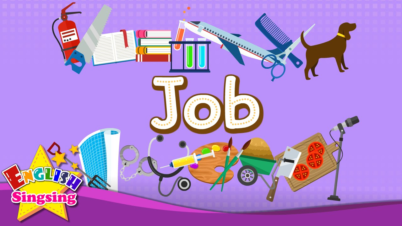 Kids vocabulary job let 39 s learn about jobs learn for Arts and craft jobs