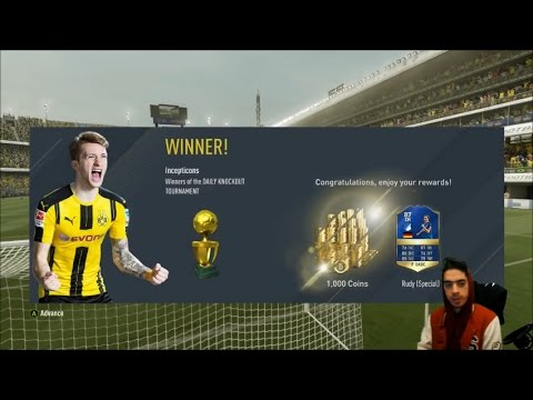TOTS RUDY UNLOCKABLE DAILY KNOCKOUT TOURNAMENT RUN - FIFA 17 ULTIMATE TEAM