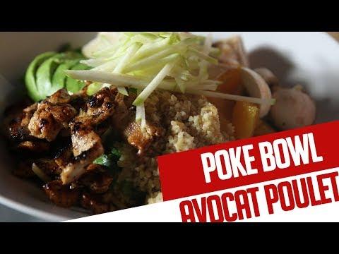 poke-bowl-(-poulet,-avocat,-boulghour-)---recette-chef-valentin