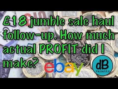 UK EBay Reseller | Jumble Sale Total PROFIT Revealed!