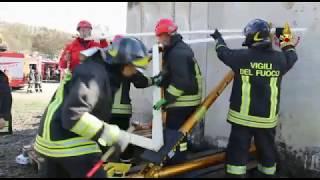 Morra de Sanctis, terremoto e  incendio: la maxi esercitazione dei Vigili del Fuoco