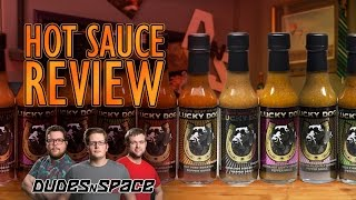 Hot Sauce Review - Dudes N Space Tries Lucky Dog Hot Sauces On Milk Bones