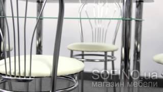 Стол JAZZ SR 110*65 + 4 стула VENUS CHROME(Стол JAZZ SR 110*65 + 4 стула VENUS CHROME - это изящный комплект, который обладает высочайшим качеством. Подробнее: https://so..., 2015-07-03T07:03:03.000Z)