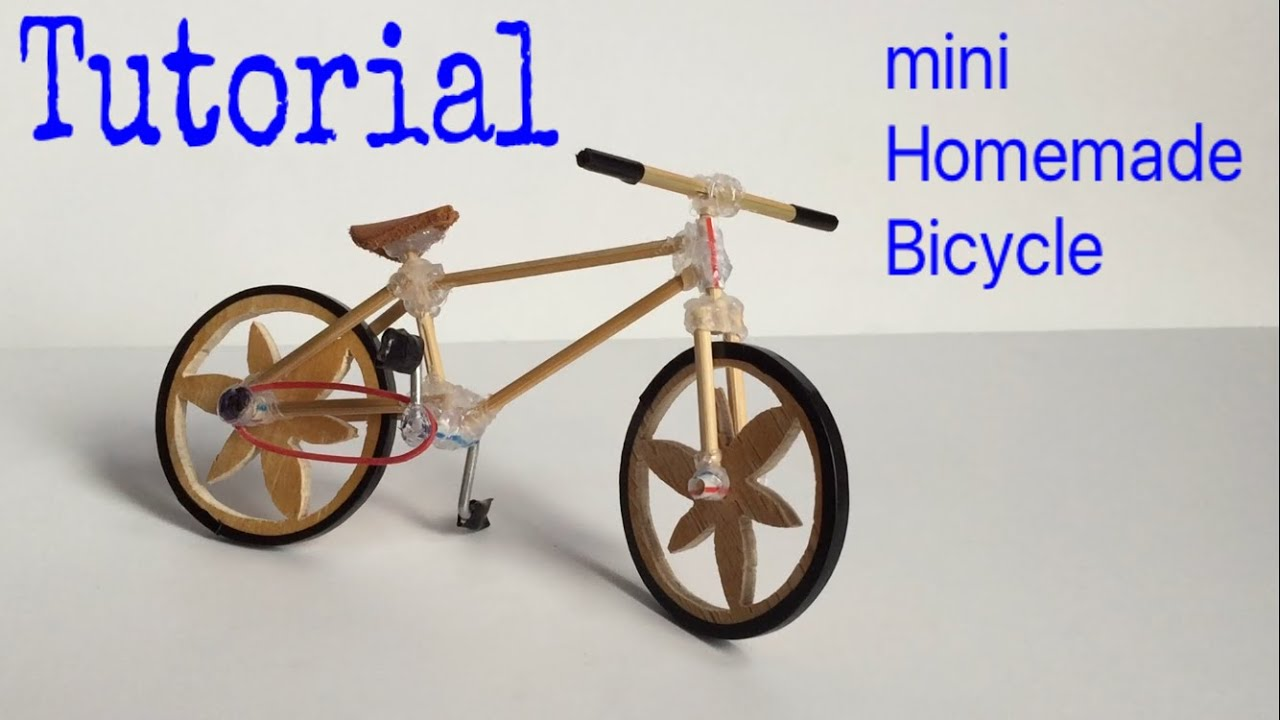 How to Make a Bicycle - Mini Homemade Bike - Tutorial - YouTube