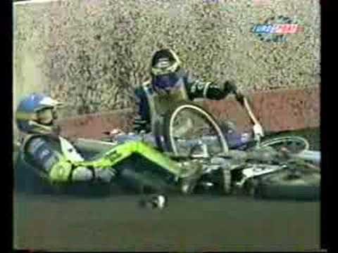 CRASH!!! tony rickardsson speedway grand prix 1999