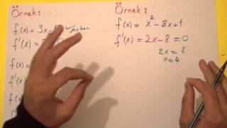 Artan Ve Azalan Fonksiyonlar Türev Uygulamaları Şenol Hoca Matematik