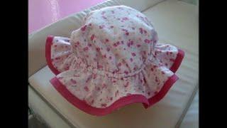 Diy – Como fazer chapéu infantil de 6 meses a 4 anos com molde