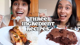 i only made 3 ingredient recipes for a day | clickfortaz