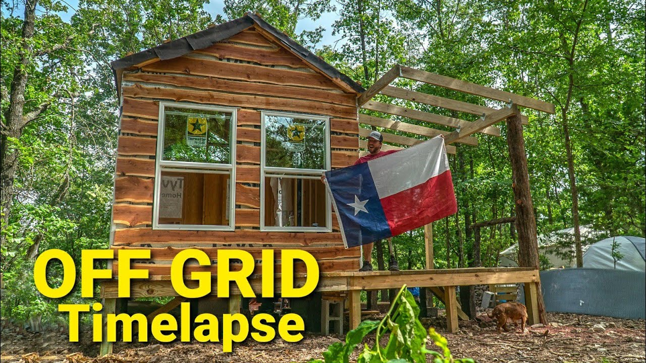 Off Grid Tiny House Build Timelapse The Crockers