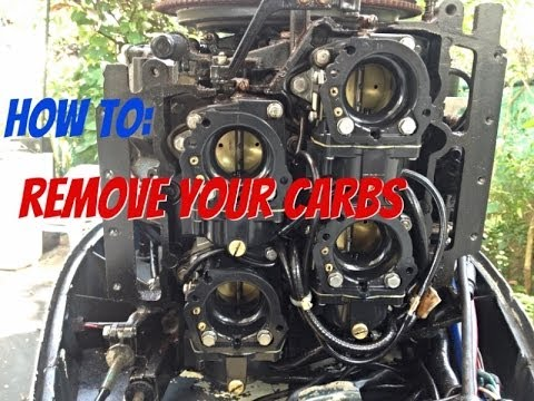 How to take off the Carburetor off an outboard  YouTube