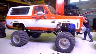 RC ADVENTURES - Working on my '76 Chevy K5 Blazer - What Tire will I Use?! Axle Swap