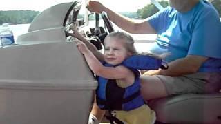 Ashlyn Honking the Boat Horn