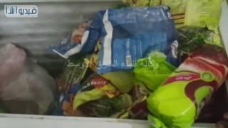 مساعد وزير الداخلية يتفقد ضبط لحوم ومواد غذائية فاسدة ومنتهية الصلاحية داخل أحد محال باسيوط