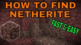The BEST and FASTEST way to find NETHERITE/ANCIENT DEBRIS - Minecraft 1.16 Bedrock & Java