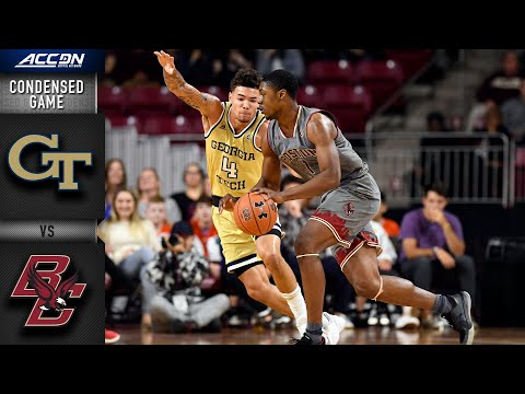 Georgia Tech Vs. Boston CollegeCondensed Game | 2019-20 ACC Men's Basketball