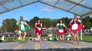 Braemar Gathering 2017 - Highland Dancing competitions showing the Hullachan and Irish Jig