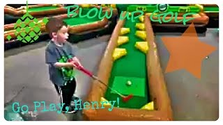 BLOW UP INDOOR MINI GOLF ! Family fun, toddlers, games, kids