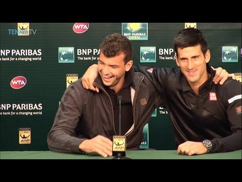 Federer & Nadal's Guessing Game -- 'Good Looking' Grigor Dimitrov -- The Gulbis Dance