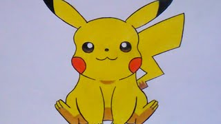 Repeat youtube video Cómo dibujar a Pikachu (Pokemon) - How to draw Pikachu (Pokemon Go)