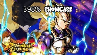 398% RED Super Saiyan Vegeta Showcase - Dragon Ball Legends