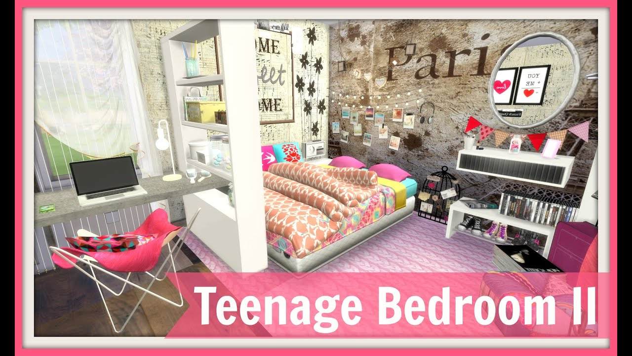 Sims 4   Teenage Bedroom II   YouTube