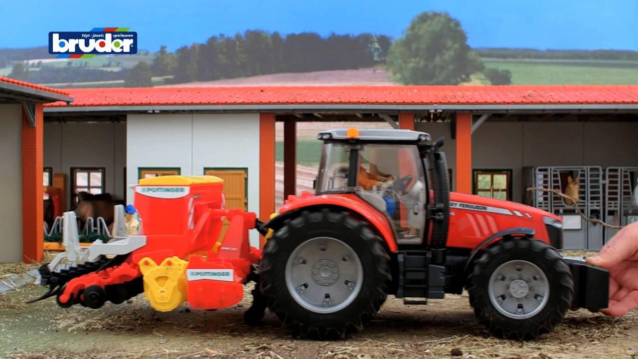 bruder toys massey ferguson 7600 tractor 03046  youtube