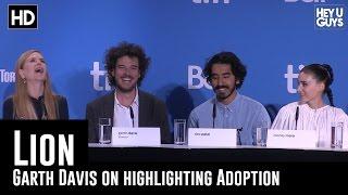 Garth Davis on Highlighting Adoption - Lion Press Conference (TIFF 2016)