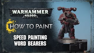 How to Paint: Speed Paint Word Bearers