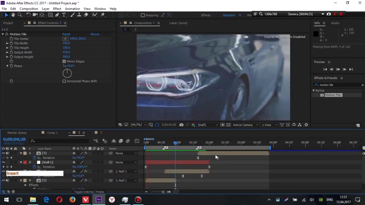 Tutorial - Adobe After Effects Smooth Spin Blur Rotation Transition