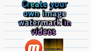 How to create our own image watermark by Mysterious Cases