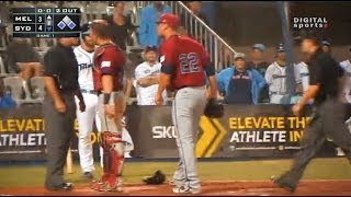 Controversial Steal Home For Lead Run With Pitcher, Catcher & Coach Ejected