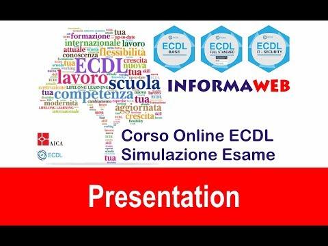 Simulazioni Esami Nuova ECDL Modulo 6 Presentation PowerPoint 2013 Simulatore AICA Syllabus 5-6