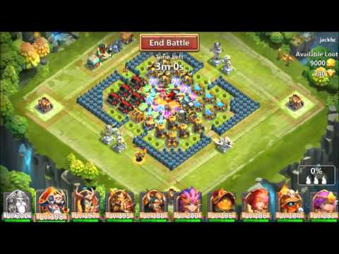 Castle Clash Hero Expedition Completed In Under 2 Minutes Smashing Buildings
