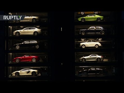 'Luxury car vending machine': Million-dollar supercars on display in Singapore