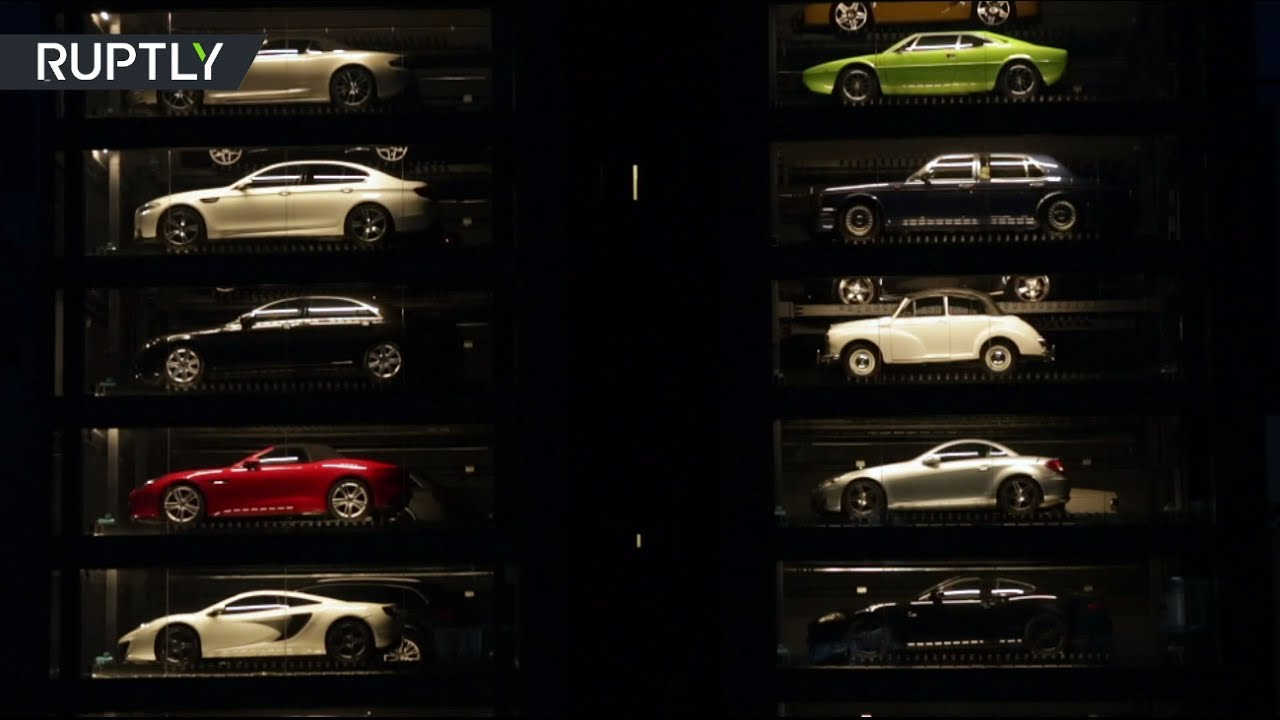 Luxury Car Vending Machine Million Dollar Supercars On Display In
