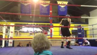 Albert Sharp boxing round 2