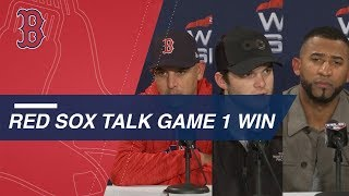 Cora, Benintendi and Nunez on Red Sox's win in Game 1