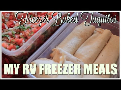 EASY RV FREEZER MEALS | CHICKEN BAKED TAQUITOS| MEAL PREP