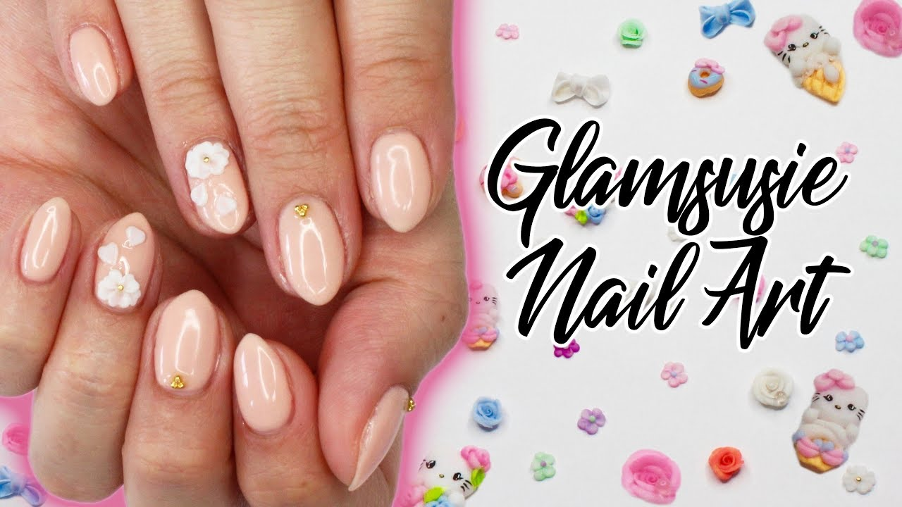 Glamsusie 3D Nail Charms | Review & Gel Tutorial ♡ - YouTube