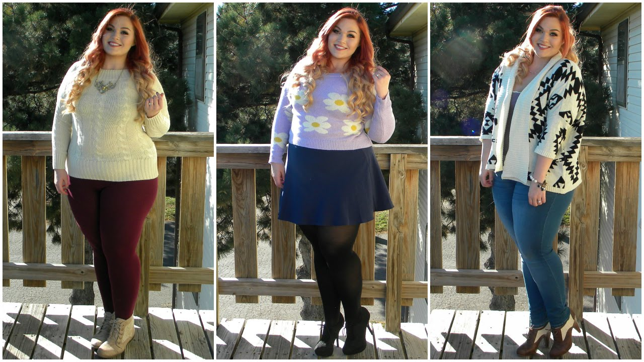 6d1efbdc3073c The Curvy Diaries: Sweater Weather   Plus-Size Lookbook - YouTube
