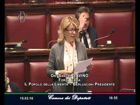 Sandra savino fi 10 febbraio 2016 il giorno del for Camera dei deputati ordine del giorno