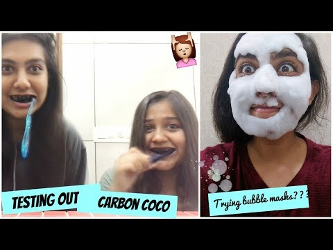 #AruVlogs: The Time We Put Charcoal On Our Teeth, Try a BUBBLE MASK?? | Forever21 Sale Haul