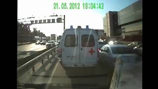 Dashcam Ambulance crashes and accidents