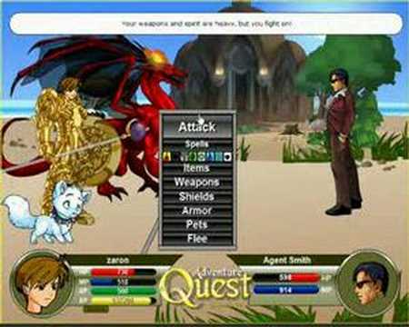 Adventure Quest Battleon Agent Smith R.I.P
