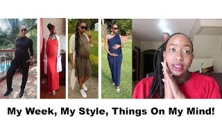 Vlog| Week In My Life| Maternity Style| 5 Things On My Mind