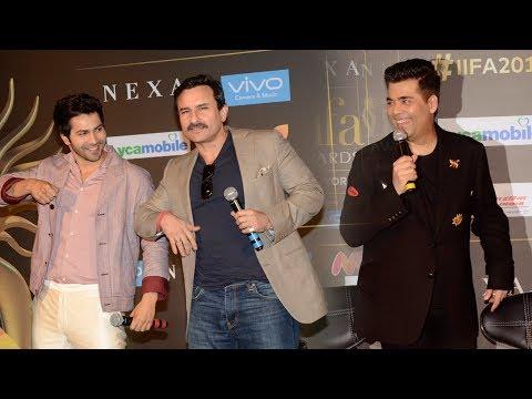 IIFA Awards 2017 Press Conference Full HD Video | Varun Dhawan, Saif Ali Khan, Karan Johar